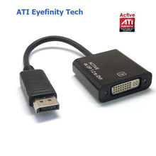 Active ATI Eyefinity 4K DisplayPort DP Male toDVI Female Video Audio HDTV Adapter Converter Multiple Monitor Technology(China)