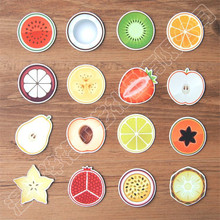 16pcs Refrigerator Magnets Stickers Various Fruit Shape Refrigerator Magnetic Stickers Kids Gifts Home Decoration 6ZDZ208(China)