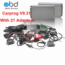 Top Rated Full Carprog V9.31 Auto Repair Tool Carprog Car Prog Full V9.31 With 21 Adapters OBD2 Airbag Reset Tool For IMMO ECU