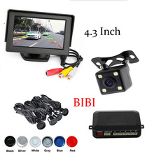 Park System Alarm BIBi Sound 4 Sensors 4.3 inch Auto TFT Screen Color monitor With CCD Rear View Camera Reversing Parking Assist