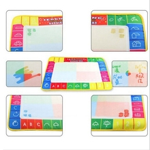 4 color Water Drawing Toys Children Aqua Doodle Drawing Toys 1 Painting Mat + 1 Water Drawing board/baby play mat 29X19cm(China)