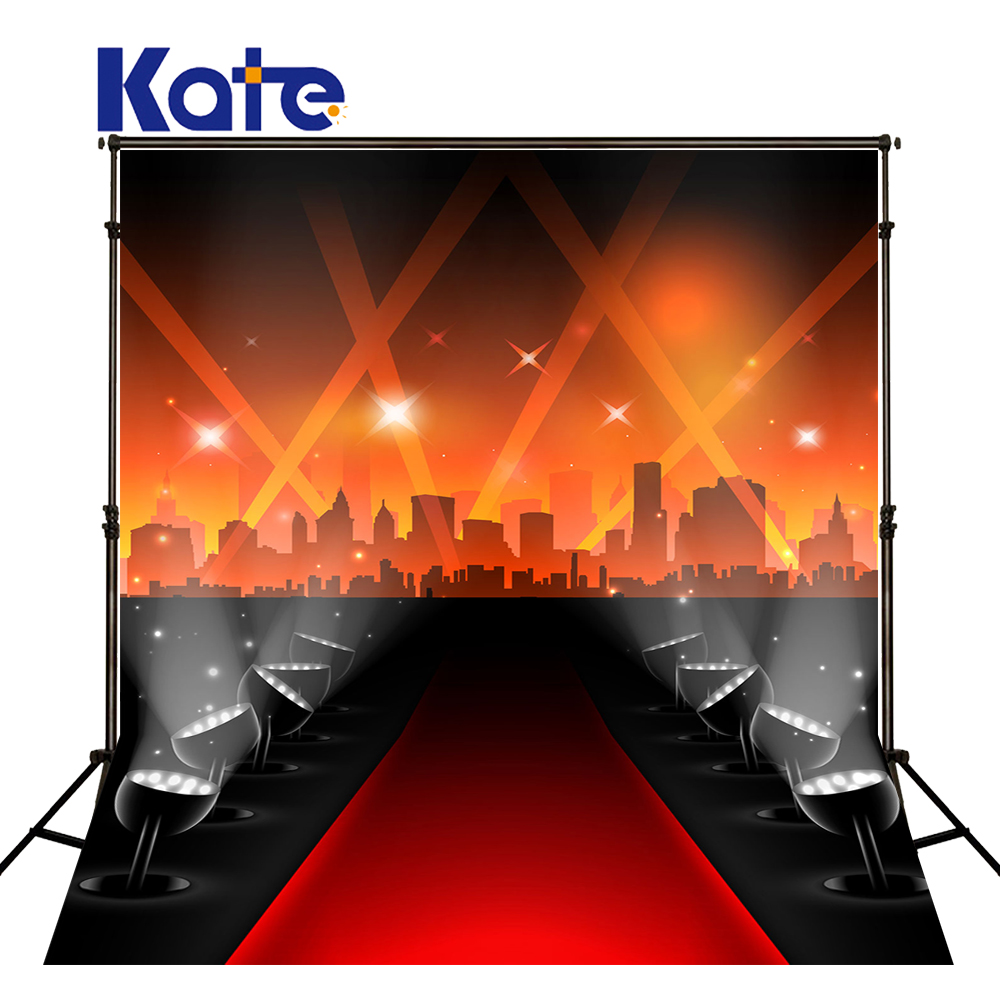 KATE Photography Background 5x7ft Lamplight Stage Backdrop Hollywood Style Background Red Carpet Backdrops for Photo Studio<br>