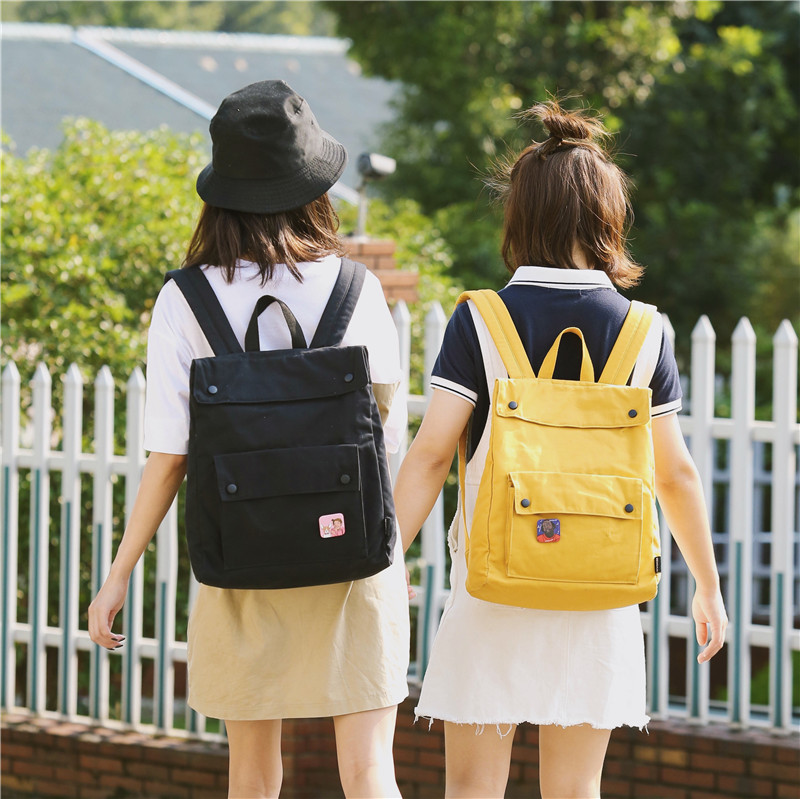 Menghuo Brand Female Women Canvas Backpack Preppy Style School Lady Girl Student School Laptop Bag Cotton Fabric bolsasIFUA7047