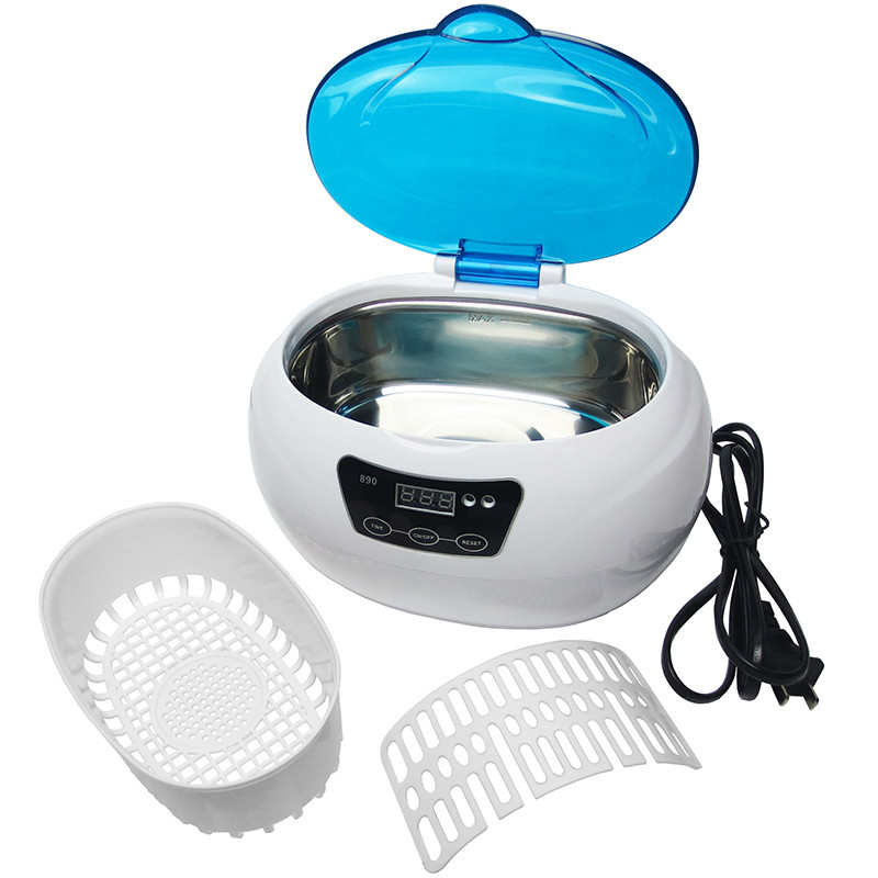 SKYMEN JP-890 Digital Ultrasonic Cleaner Wash Bath Tank Baskets Dental 0.6L 35W 42kHz Mini Portable Ultrasound Cleaning Machine<br>