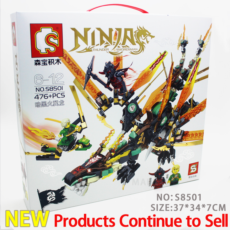2018 New Arrivals SY8501 ninjagoes Dark fire pterosaurs models Compatible Knights figures toys for children with building blocks<br>
