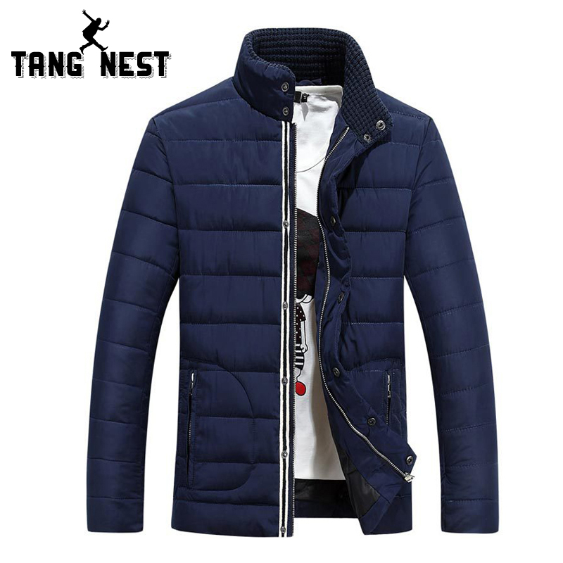 TANGNEST Winter Stand Collar Jacket Men 2017 Fashion Casual Striped Solid Color Men Coat Thick Warm Comfortable Jackets MWM1361Îäåæäà è àêñåññóàðû<br><br>