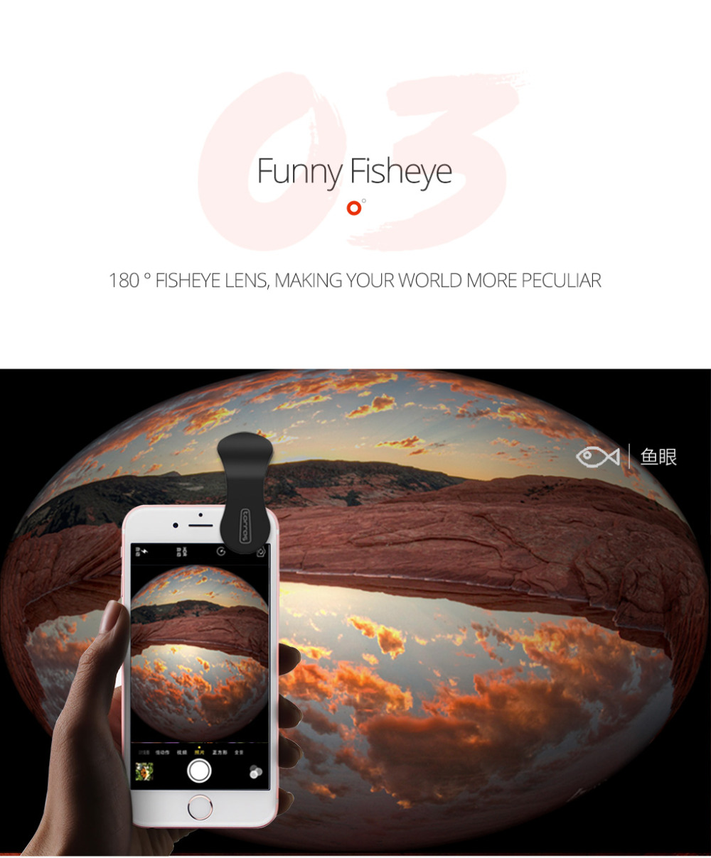TORRAS Mobile Phone Lens Wide Angle Fish Eye Clip-on Alloy Metal Cell Phone Camera Lens Kit 15X Macro For iPhone Lens with Case 13