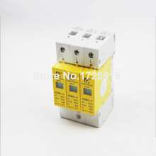 10 pieces / lot Household Standard Din Rail 35mm 3P 5KA 10KA 385V AC Low-voltage Anti-lightning SPD Surge Protection Device(China)