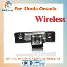 Wireless Parking Camera / 1/4 Color CCD Rear View Camera For Volkswagen Skoda Octavia Night Vision / 170 degree / Waterproof