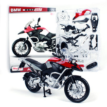 Maisto 1:12 Scale Assembly Motorcycle Toy DIY Metal & ABS R1200GS Motorbike Model Assembling Building Kits Kids Toys Brinquedos