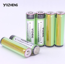 6PCS Protected 18650 3400mAh battery NCR18650B Rechargeable lithium battery flashlight battery 3.7v button top newly produced(China)