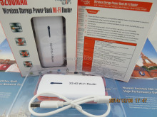 Free Shipping Portable 5200mAh Power Bank 150Mbps 3G Wireless WIFI Router