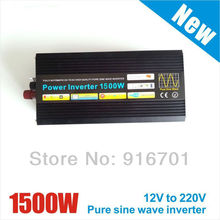 Wholesale Price 1500W 12V to 220V+Off Grid DC to AC PV Inverter+Pure Sinewave Inverters+Full power