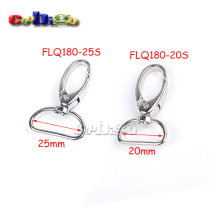 10pcs Pack Swivel Lobster Clasps Trigger Clips Snap Hooks for Keychain Bag Backpack #FLQ180-20S/25S