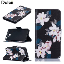 Dulcii For Huawei Y5II Case Patterned Leather Wallet Mobile Casing for Huawei Y5II / Y5 II / Honor 5 - Flowers