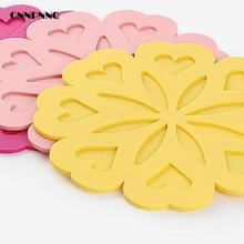 1pcs Silicone Table Mat Peach Dining Table Heat Resistant Mat Insulation Silicone Bowl Pad Cup Mat Placemats For Table