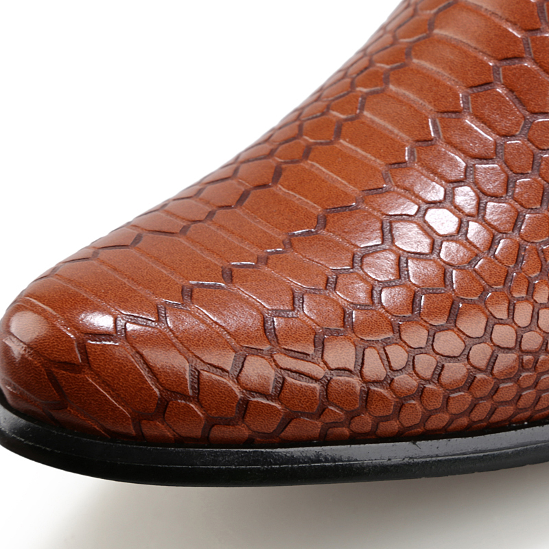 height increasing snake skin men shoes luxury brand italian formal leather male footwear pointed toe brogue oxford shoes for men (10)