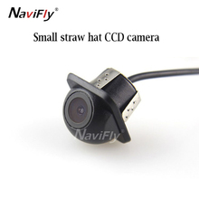 Factory price HD CCD car small straw hat waterproof night vision wide angle reversing camera(China)