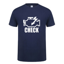 Check Engine Light T Shirts Men T Shirt New Summer Short Sleeve O-Neck Cotton Men Mechanic Auto Repair T-shirt Tops OT-893(China)