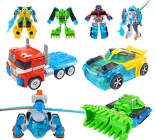 Promotion Deformation Rescue Bots Action Figures Toys Optimus/Bulldozer/Helicopter Robots Gift for Boys