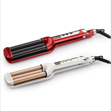 It is in the LCD electric porcelain hair styler hair curler roll 3 barrels curling tongs clamp V52 varies modelling tools