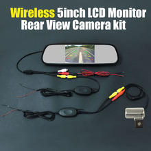 Wireless 5inch TFT LCD Mirror Monitor Review Car Rear View Backup Reverse Camera System Kits For Toyota YARiS L 2014 2015(China)