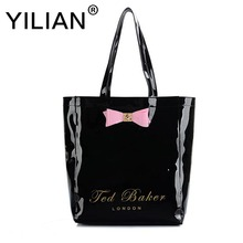 2017 women messenger bag for ladies women famous brands large capacity bow women's shoulder bags big female black high quality(China)