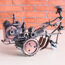 Ancient iron tractor crafts, China's high furniture furnishings, farm toy cars(China)