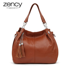 Buy Classic Brand Fashion Tassel 100% Genuine Leather Women Hobo Handbag Ladies Shoulder Messenger Crossbody Bag Tote Purse Satchel for $42.32 in AliExpress store