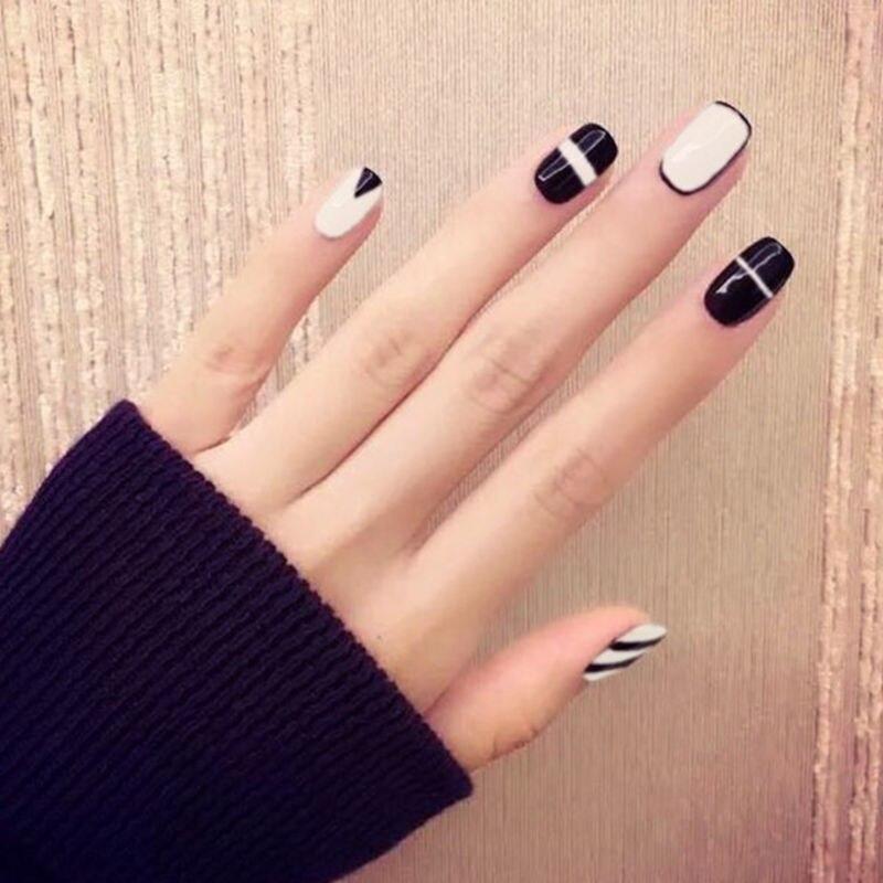 Elegant Nail Decals, False Nail Tips, French Manicure, DIY Art, /Box ...