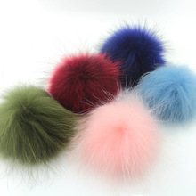 2pcs Real Raccoon Fur Pom Poms Fur Ball Fur Pompom DIY For Key Chain Jewelry Finding Accessories Shoes Free Shipping(China)