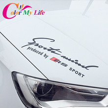 Race Sport RS SPORT Car Lamp Eyebrow Posted Sports Light Brow Car Sticker for Audi RS Sports A1 A3 A4 A5 A6 A7 A8 S5 S8 Q3 Q5 Q7