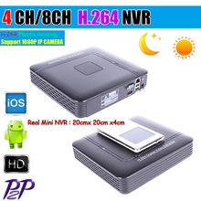 Mini DVR HD CCTV NVR 4CH Video Recorder Onvif 4/8 Channel H.264 Network DVR For 720P 1080P IP Camera Surveillance System
