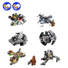 (A Toy A Dream)Star Wars Rebels TIE Advanced Prototype Micro Fighters Ghost Ship Figures Building Block Toys Compatible Kid Toy
