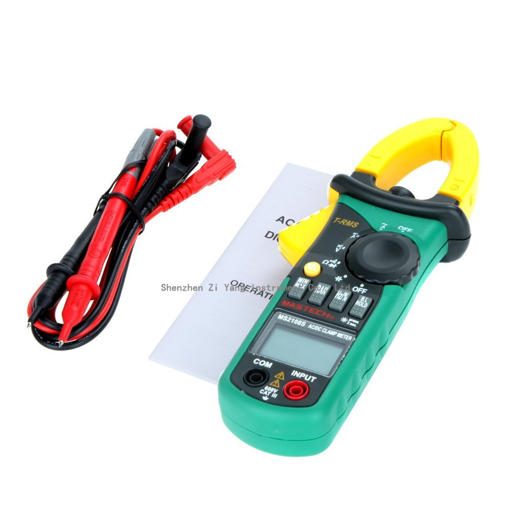 MASTECH MS2108S True RMS Digital AC DC Current Clamp Meter Multimeter Capacitance Frequency Inrush Current Tester VS MS2108 YQ12<br>