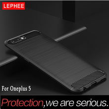 LEPHEE Oneplus 5 Case TPU Cover One plus 5 Cases Silicone Soft Carbon Fiber Full Cover Oneplus5 A5000 Phone Cases 1 Plus 5