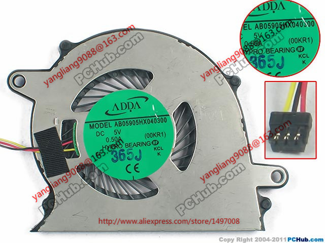 ADDA New  AB05905HX040300, (00KR1) Vaio Tap 11 DC 5V 0.50A  Laptop CPU Fan<br>