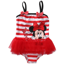 Toddler Kids Baby Girls Tutu Swimsuit Skirt One Piece Swimsuit Summer Swimwear