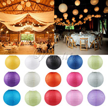 "5PCS Round Chinese Paper Lantern Birthday Wedding Party Home Decor Gifts Craft DIY Hanging Lanterns Wholesale 8"" 10"" 12"" 14"""