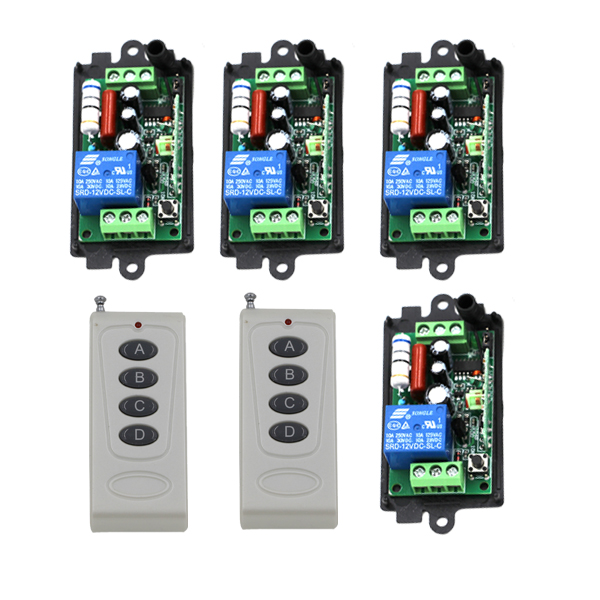 New 110V 220V 10A 1 Channel Wireless Relay Remote Control Switch RF 315MHz,Remote Controllers For Light switch SKU: 5386<br>