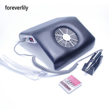 foreverlily 2 in 1 Nail Grinding Machine Set with Nail Dust Collector New Nail Art Vacuum Grinding Combo Combination Machine(China)