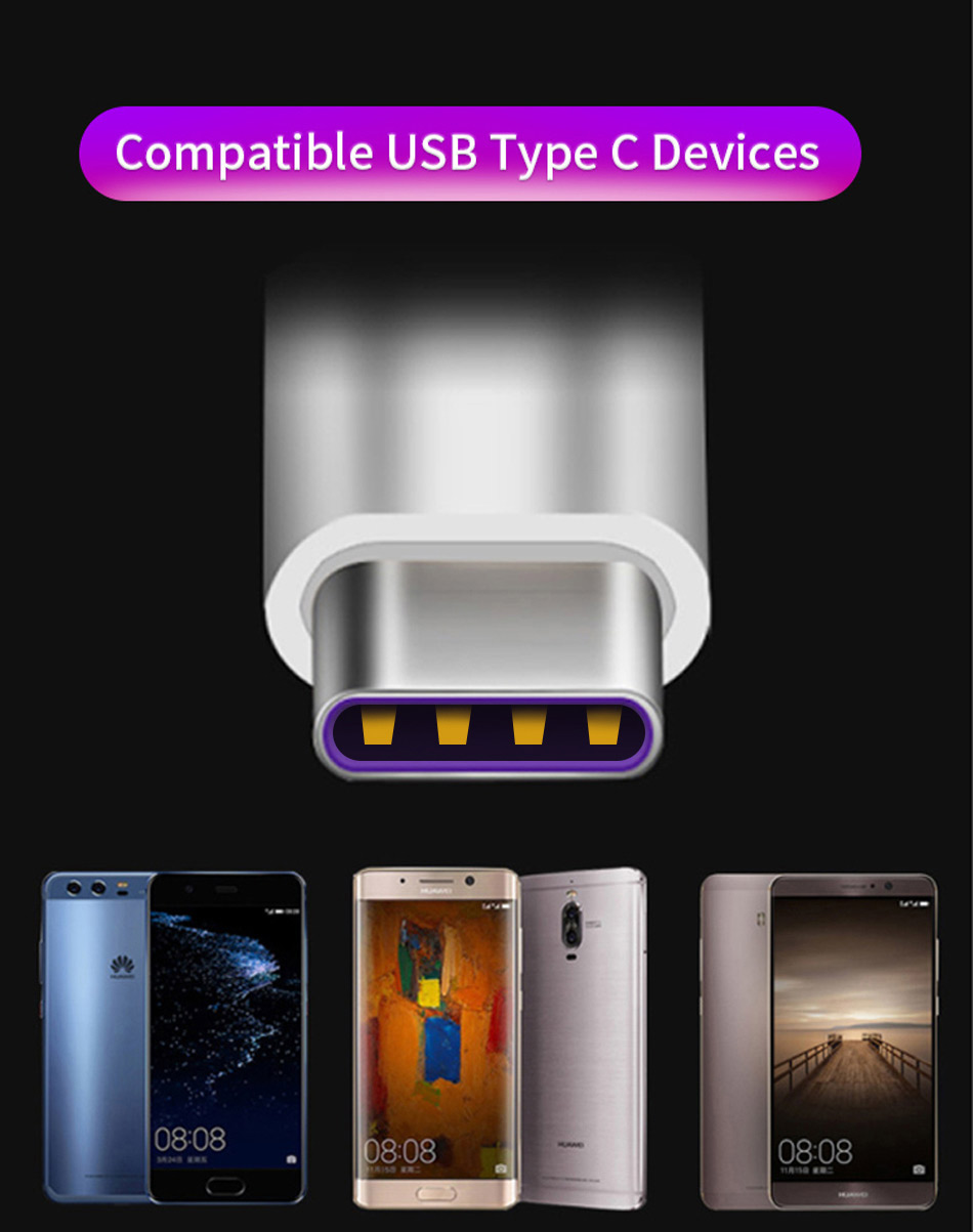 5Huawei P20 Pro Lite SuperCharge 5A Cable USB Type C Original SCP Fast Quick Charging Cable Type-C P10 P9 Plus Lite