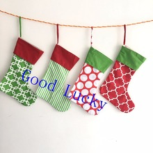 100pcs/lot newest style good quality canvas 16*12inch canvas Christmas stocking monogram Christmas gift bag stocking