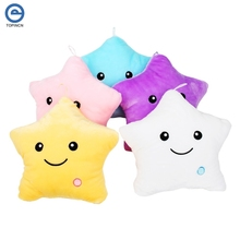 Colorful Body Pillow Star Glow LED Luminous Light Pillow Cushion Soft Relax Gift Smile Body Pillows Almofada Car Travel Coussin(Hong Kong)
