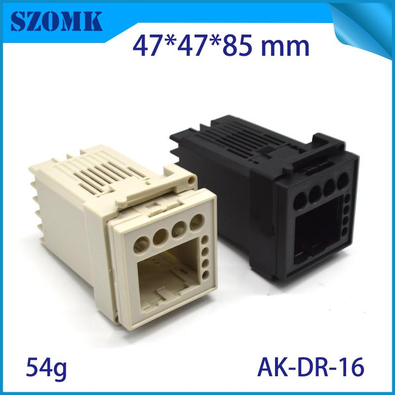 szomk plastic din rail enclosure PLC plastic box for electronics project instrument case junction box (3)