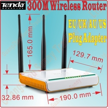 EU/UK/US/AU Plug New Tenda W303R W304R Wireless Router 300Mbps WiFi Router with 4 ports Broadband Router Range Extender, Prom5(China)