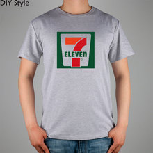 Convenience store supermarket employees SEVEN ELEVEN T-shirt 10748 Fashion Brand t shirt men new high quality(China)