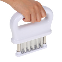 Handheld Manual Meat Tenderizer Machine Needle Stainless Steel with 48 Blades Kitchen Cooking Tools Sharp Steak Beef Chicken