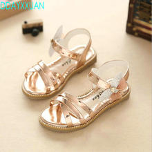 Buy 2018 New Summer Princess Girls Sandals Bowknow Children Sandals Kids Girls Soft Shoes Low-heeled Dress Party Shoes 4 Colors for $6.85 in AliExpress store