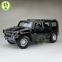 1/18 Hummer H2 SUV Maisto Diecast Model Car SUV Model Black